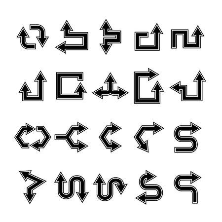 arrow icons set, cursor Stock Vector - 119945785