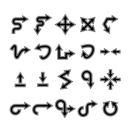arrow icons set, cursor Stock Vector - 119946026
