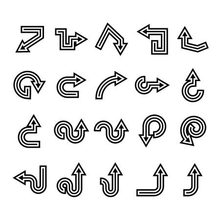 arrow icons set, cursor Stock Vector - 119946033