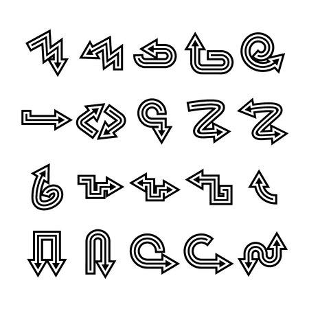 arrow icons set Stock Vector - 119946044