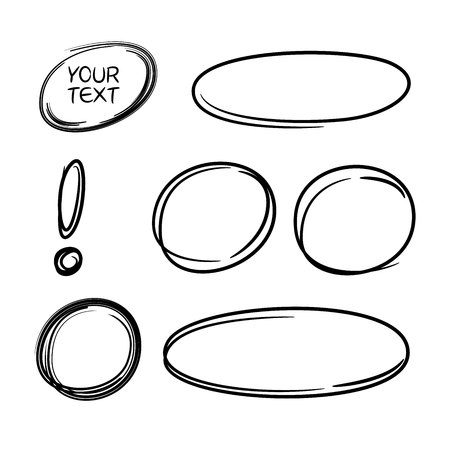 black circles and ovals marker elements