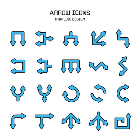 blue arrow icons