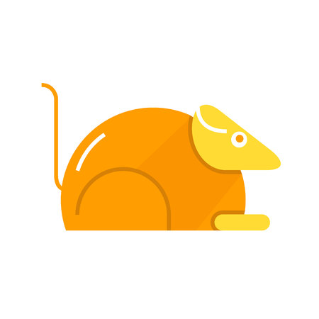 guinea pig, lab rat icon in white background