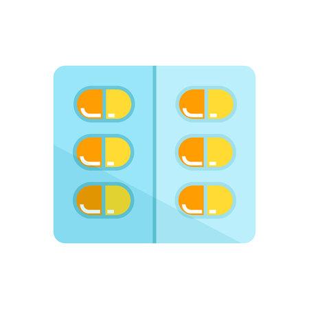 medicine capsule icon in white background