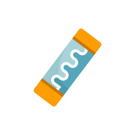 icono de fusible en fondo blanco Ilustración de vector