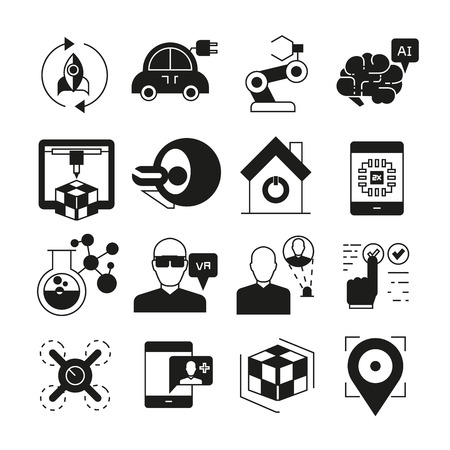 smart device and innovation technology icons