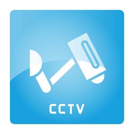 CCTV sign in blue signage