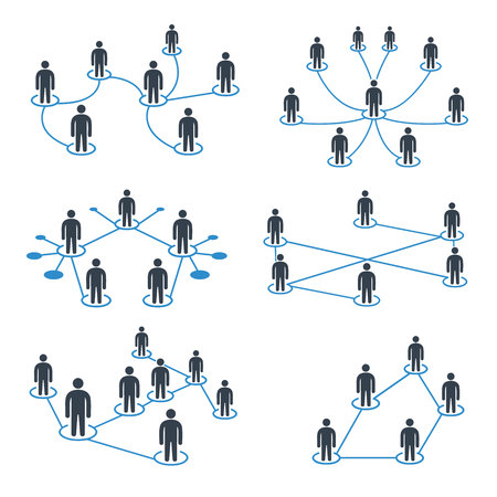 people connection, people network icons set