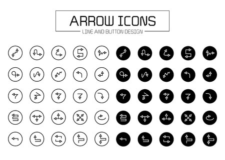 arrow line and button icons
