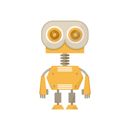 cute robot character icon