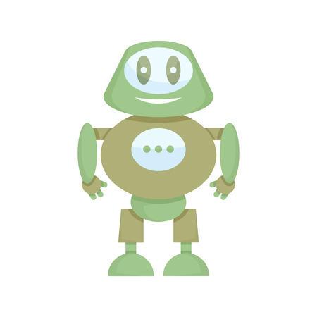 cute robot cartoon character
