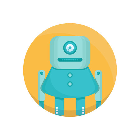 robot avatar circle icon