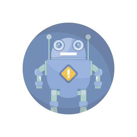 robot avatar circle icon