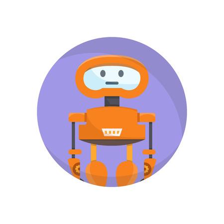 robot avatar circle icon Vektorové ilustrace
