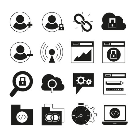 jeu d'icônes web et seo Vecteurs