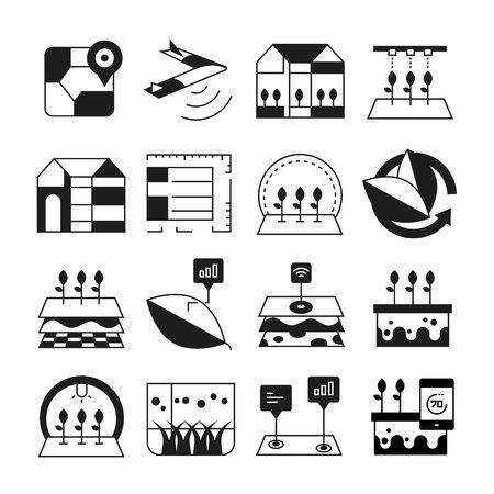 smart farm and smart agriculture icons Ilustración de vector