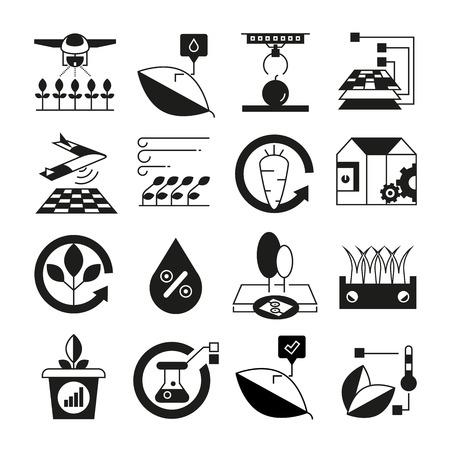 iconos de granja inteligente y agricultura inteligente