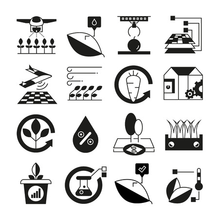 smart farm and smart agriculture icons 일러스트