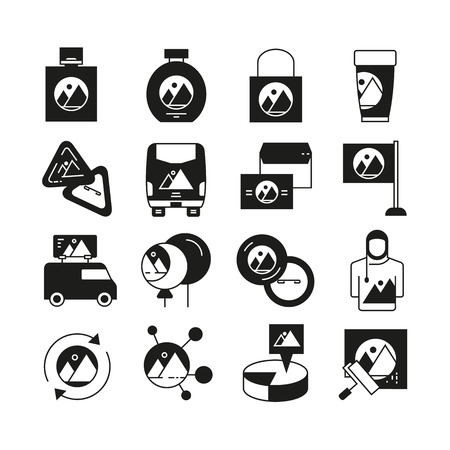 branding design icons set