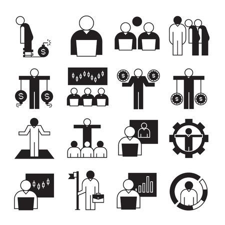 entrepreneurship and business management concept icons
