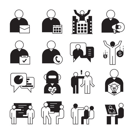 entrepreneurship, business management and organization icons Foto de archivo - 122082011