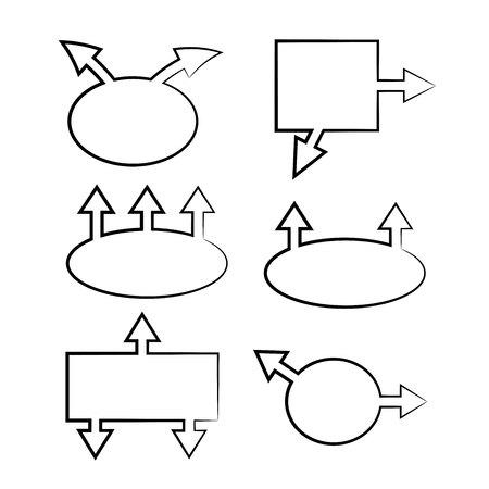 hand drawn design infographic diagram elements
