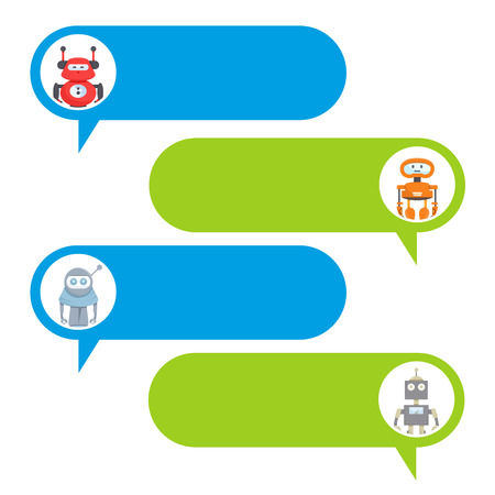 chat bot, robot message dialog set