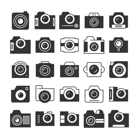 camera and video recorder icons Illustration