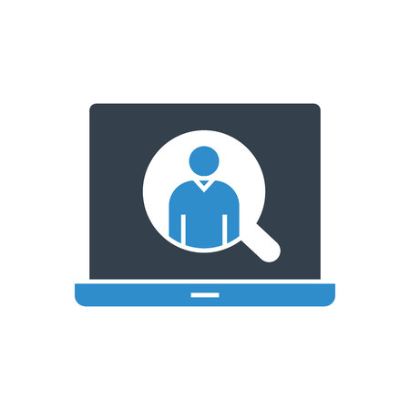 recruiting online concept icon