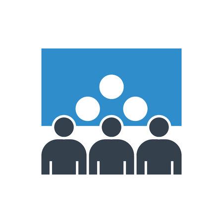 icône de conférence d'affaires et de réunion du conseil d'administration