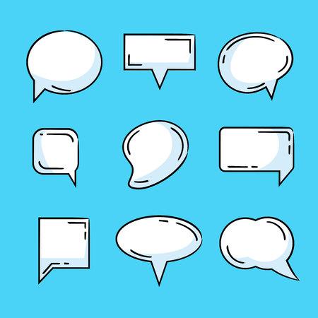 comic speech bubble set Ilustração