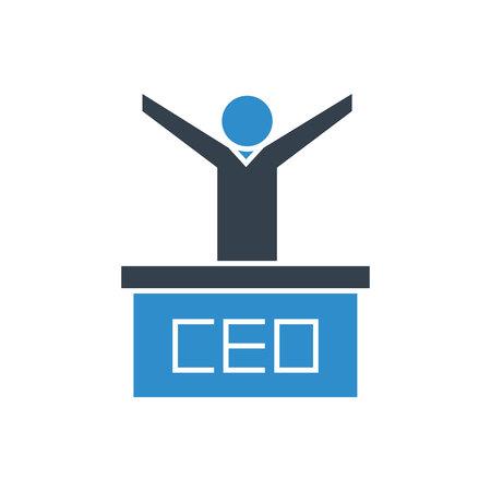ceo and podium icon