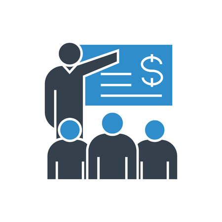 financial training concept icon Ilustracja