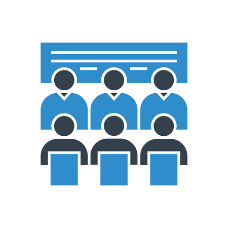 board meeting and business training icon