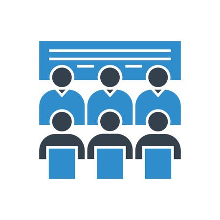 réunion du conseil d'administration et icône de formation commerciale