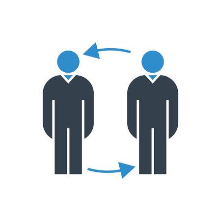 people allocation concept icon