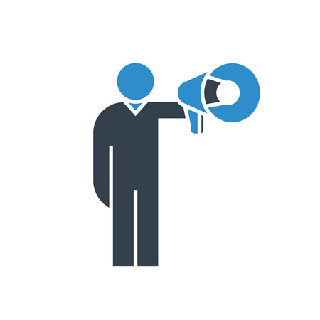 marketer and megaphone icon