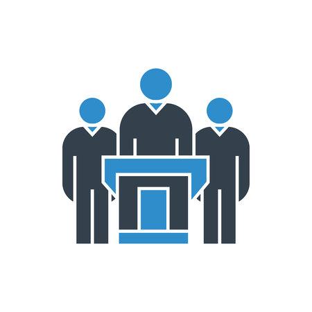 PDG et leader sur l'icône du podium