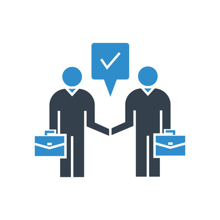 business negotiation and deal concept icon