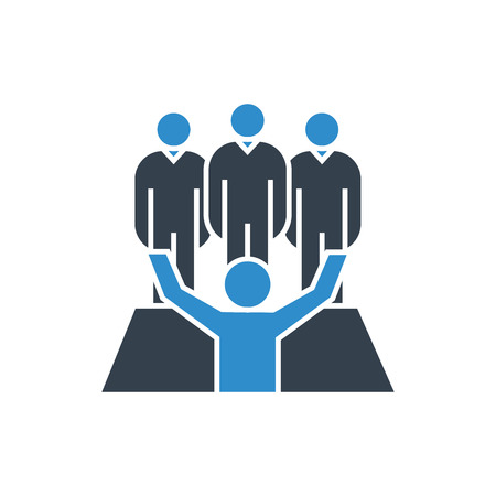 business people. leadership and teamwork concept icon.