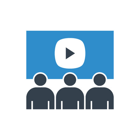 video conference icon Illustration