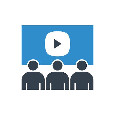 video conference icon Vektoros illusztráció