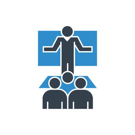 business conference icon Illusztráció