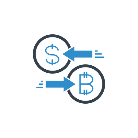 bitcoin and dollar exchange icon Archivio Fotografico - 123175614
