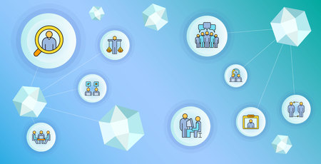 business management and organization concept network illustration