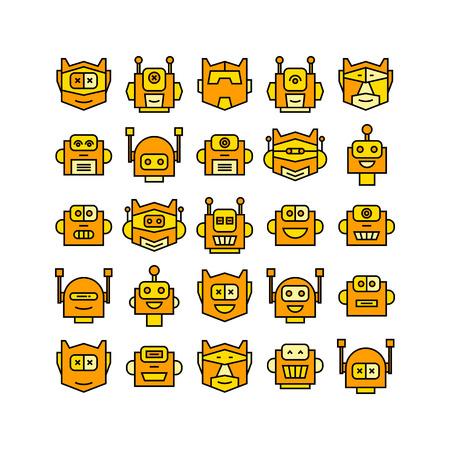 yellow robot head avatar icons
