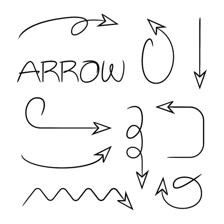 hand drawn and doodle arrows