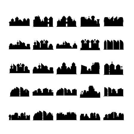 silhouette de vecteur d'horizon de la ville
