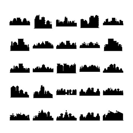 city skyline vector silhouette 일러스트