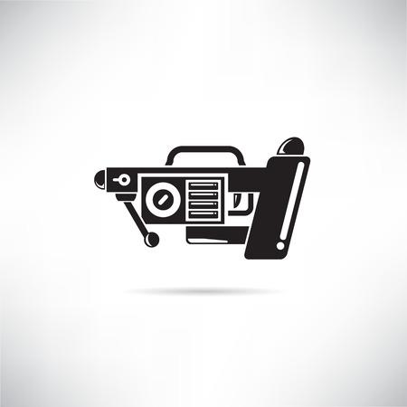 futuristic gun, futuristic weapon icon Ilustração